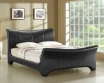 Product image for Time Living Wave Faux Leather Bed Frame