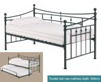 Product image for LPD Florence Metal Day Bed Trundle
