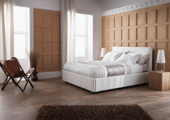 Serene Lucca Ottoman Faux Leather Bed Frame