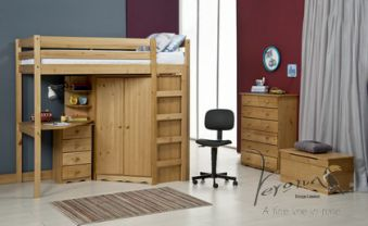 Verona Rimini Wooden High Sleeper Bed Frame