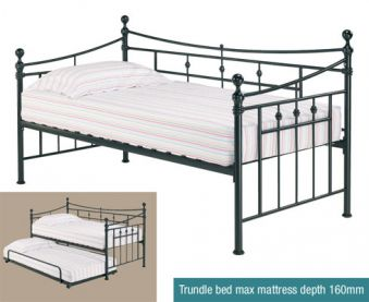 LPD Florence Metal Day Bed Trundle