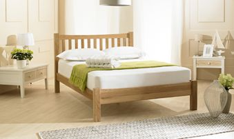 Emporia Milan Solid Oak Bed