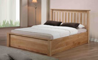 Emporia Beds Monaco Solid Oak Ottoman Bed Frame