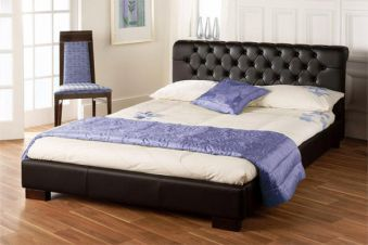 Bedmaster Aries Faux Leather Bed Frame