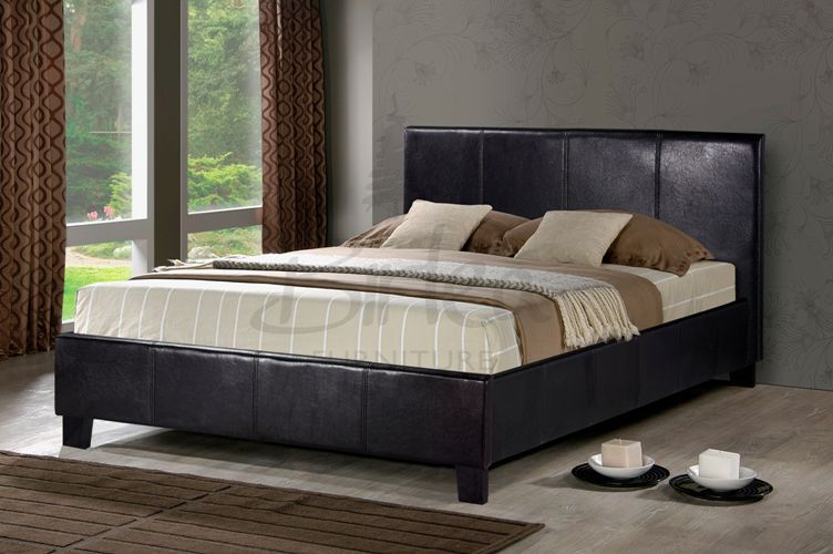 Terrific Leather Beds Birlea Berlin Faux Leather Bed Frame Lamtechconsult Wood Chair Design Ideas Lamtechconsultcom